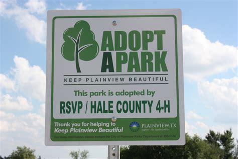 adopt a tx plainview tx official website adopt a park
