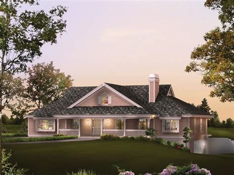 house plans garage under rochelle bay country home home garage and bays