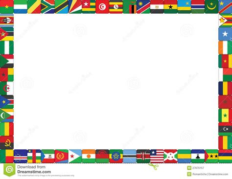 flags of the world page border african countries flags stock vector image of african