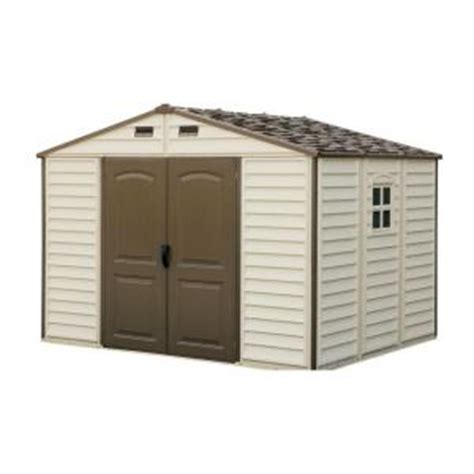 8x10 Rubbermaid Shed by Duramax Building Products Woodside 10 Ft X 8 Ft Vinyl