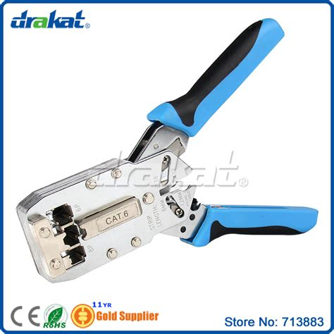 Jasa Crimping Kabel Lan Utp Rj45 Cat 6 Cat 5e Cat 5 network crimping tools for cable cat6 rj45 rj11 rj12 in networking tools from computer office