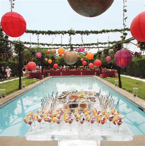 Original Ideas For Summer Wedding Weddingelation Backyard Pool Wedding Ideas