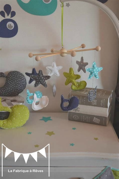 chambre bebe garcon bleu gris mobile b 233 b 233 233 toiles baleine bleu turquoise vert d eau anis