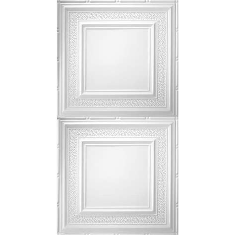 surface mount ceiling tiles shop armstrong metallaire white patterned surface mount panel ceiling tile common 48 in x 24