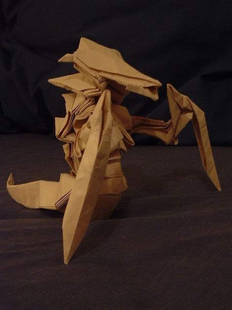 Origami Hydralisk - origami hydralisk world of warcraft photo mmosite