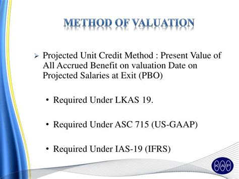 Unit Credit Benefit Formula Ppt Actuarial Valuation As Required Lkas 19 Powerpoint Presentation Id 4850514