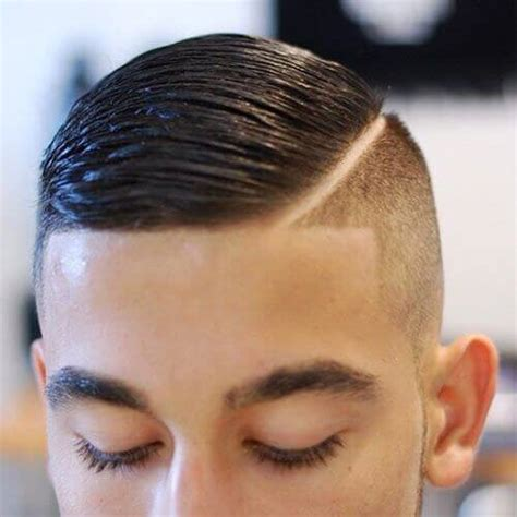 haircut with lines on side hard part haircuts