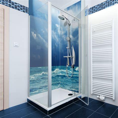 Bathroom Acrylic Shower Panel Kitchen Splashbacks Acrylic Perspex Glass Splash Blue