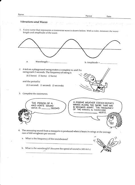 Waves Worksheet by Light Waves Worksheet Worksheets