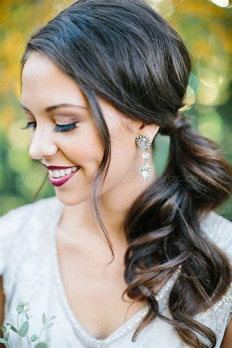 ideas  side ponytail wedding  pinterest bridesmaid side ponytails side