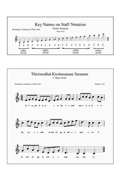 "Sheet Music for Tamil Christian Song ""Thirimudhal Kiruba"