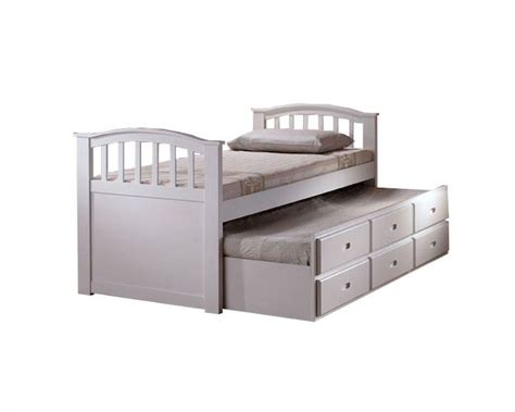 Bed With Drawers by Acme Furniture Bed With Trundle And Drawers In White