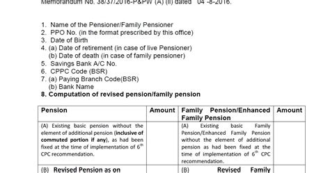 revision of pension of pre 2006 pensioners pcda circular 7th cpc revision of pension of pre 2016 defence civilian