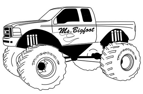 Wheels Truck Coloring Pages S 233 Lection De Dessins De Coloriage 4x4 224 Imprimer Sur