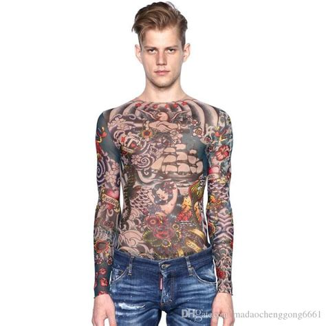 tattoo body suit for sale online cheap hot sale full body tattoo long sleeve flower