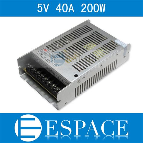 Power Supply Slim 5v 40a Meanwell Quality best quality 5v 40a 200w switching power supply driver for led ac 100 240v input to dc 5v