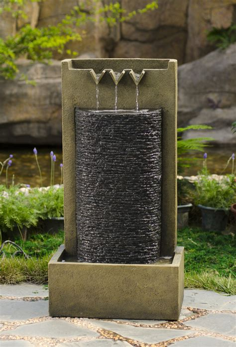 backyard wall fountains outdoor rock wall fountains exle pixelmari com