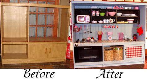 play kitchen reinvented from old furniture for my 14 amazing parent hacks couponmamauk