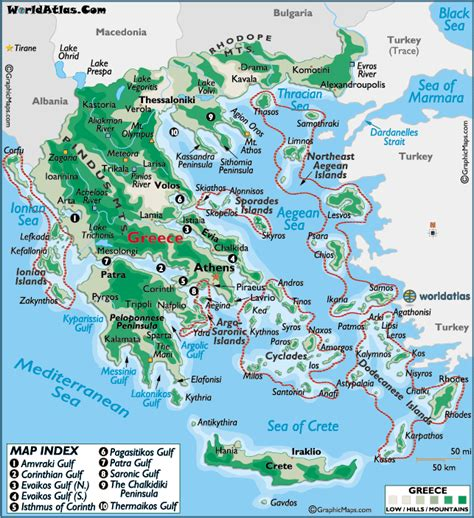 greece large color map