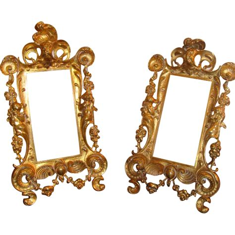 Decorative Picture Frames by Pair Of Decorative 19th Century Gilded Metal Frames
