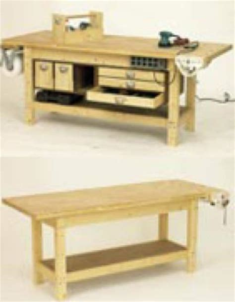 Woodshop Workbench Plans Building Plans Workbench