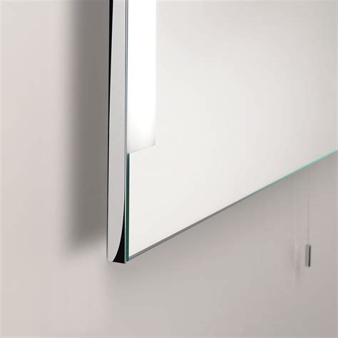 chrome bathroom mirror astro imola 800 polished chrome bathroom mirror light at