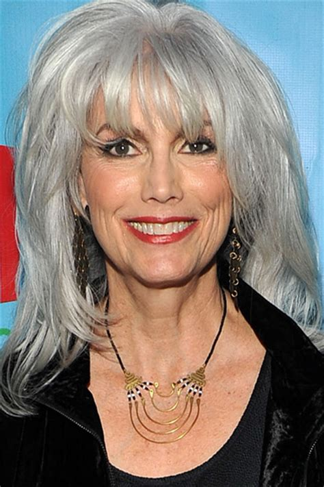 glamorous styles for medium grey hair celebrities with gray hair from youbeauty com