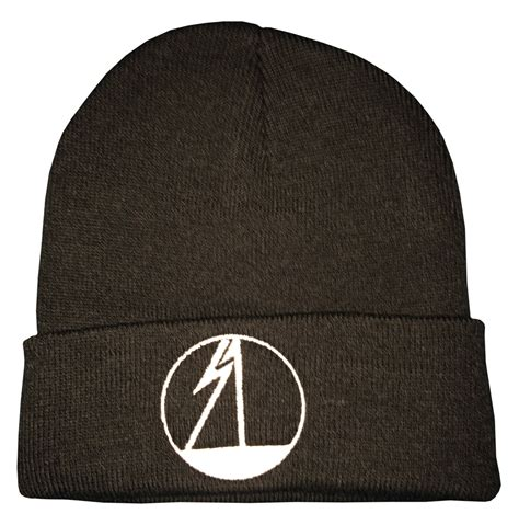 shocksumone embroidered cuffed knit beanie