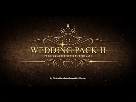 wedding pack ii adobe after effects template youtube