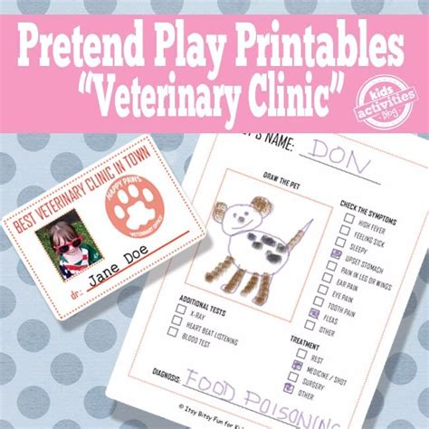 Veterinarian Badge Template Vet Pretend Play Free Kids Printables Kids Activities