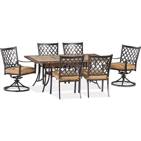 beaumont patio furniture beaumont 7 piece dining set dining furniture patio