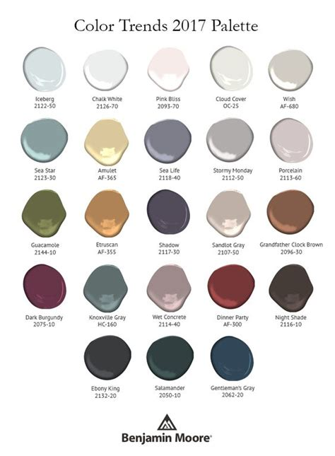 2017 color trends and moody visual