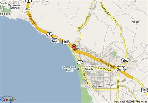 pismo california map map of beachwalker inn pismo