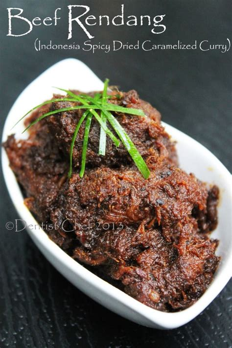 Rendang Daging Kering beef rendang recipe resep rendang padang khas