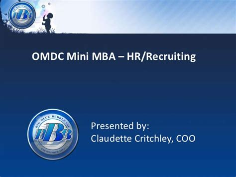 Mba Hr Course De Anza by Omdc Mini Mba Hr Recruiting