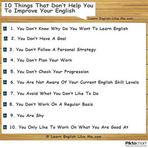 Ten Things That Are For You by 10 Things That Don T Help You To Improve Your