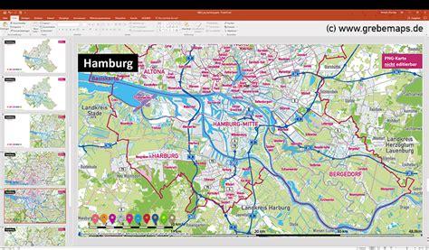 hamburg kart hamburg powerpoint karte mit bezirken und stadtteilen mit