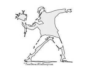 Banksy Stencil Templates by Banksy Flower Thrower Stencil Free Stencil Gallery