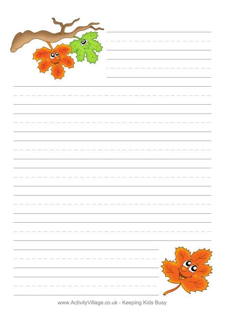 printable autumn stationery 6 best images of fall printable paper free printable