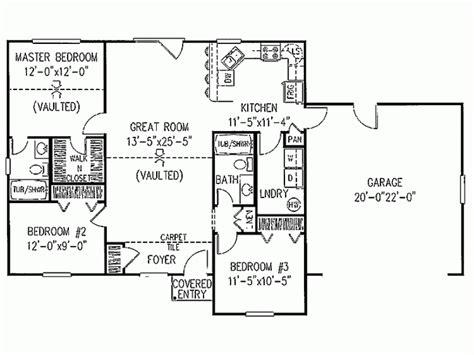 1 level ranch floor plans three bedroom ranch floor plans information