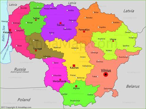 map of lithuania lithuania map map of lithuania annamap