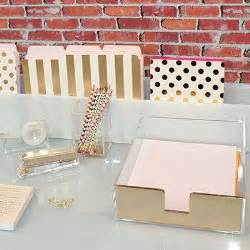 Kate Spade Desk Accessories Leo Kate Spade Gold Acrylic Letter Tray
