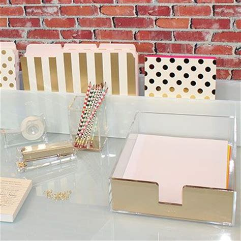 kate spade desk accessories sale leo bella kate spade gold acrylic letter tray