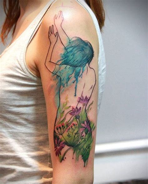 watercolor tattoos on brown skin watercolor tattoos that beautifully transform skin into a