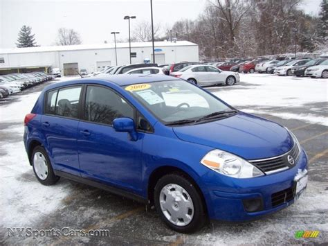 nissan versa blue 2009 2009 nissan versa 1 8 s hatchback in blue metallic