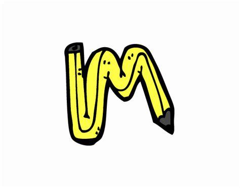 desenho de letra m pintado desenho de m min 250 scula pintado e colorido por usu 225 n 227 o registrado o dia 29 de junho do 2016