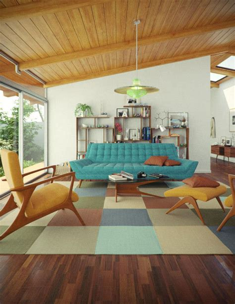 vintage mod living room with bar area 2014 hgtv retro vintage groovy get the mid century modern look