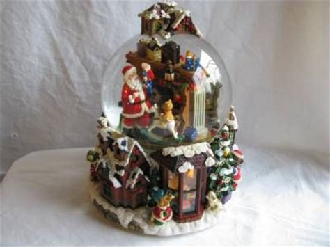 large snow globes christmas large musical light up spinning snow globe santa is comming to town snow
