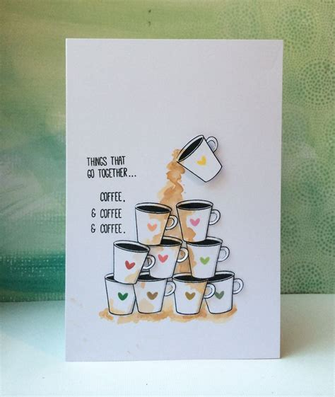 card blogs with coffee spills on the coffee fall hop coffee