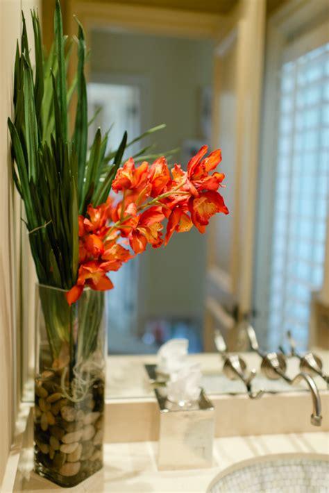 flower arrangements for bathrooms decorating with faux floral arrangements